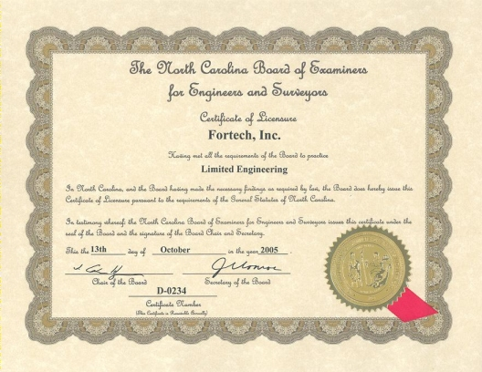 Fortech Engineering Certification